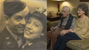 Met in WWII and married for 69 years. (Credit: 9NEWS)